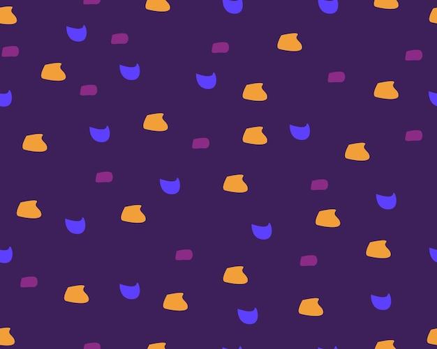 추상 모양 주황색, 보라색, 빨간색, 노란색 바탕 화면 배경 포스터