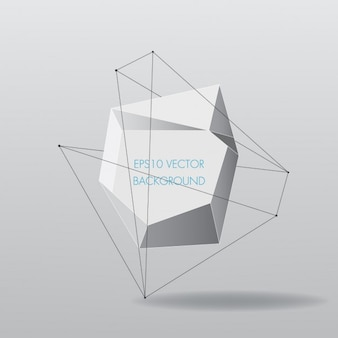 Abstract shape polygonal background