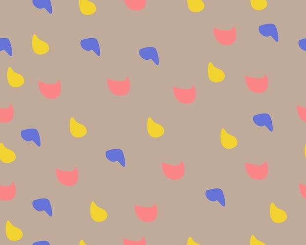 추상 모양 노란색, 파란색, 빨간색, 짙은 갈색 바탕 화면 배경 포스터