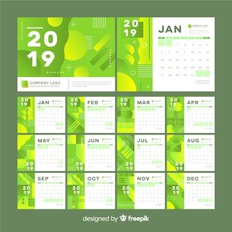 Abstract shapes 2019 calendar