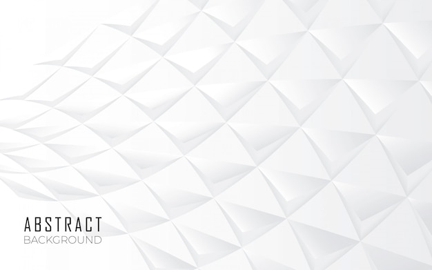 Abstract shapes background in white