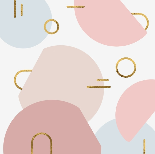 Abstract shapes background with gold accent