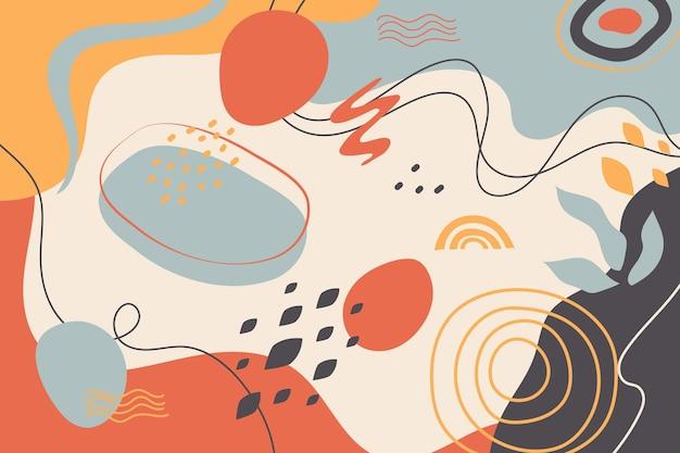 抽象的な形の背景
