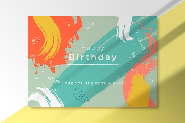 Abstract shapes birthday greeting card