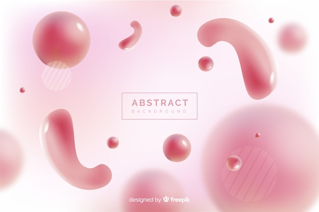 Abstract shapes blurred background