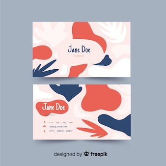 Abstract shapes business card template