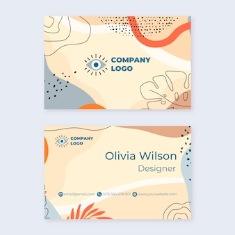 Abstract shapes business cards template