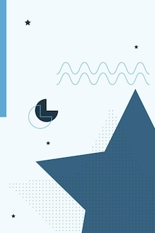 Аннотация, формы красочные, уголь, синий градиент обои фон векторные иллюстрации.