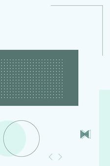 抽象的な、カラフルな形、セージグリーン、アクアマリンのグラデーションの壁紙の背景ベクトルイラスト。
