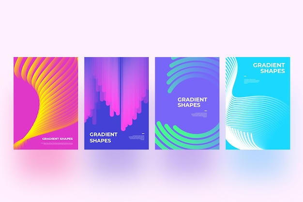 Abstract shapes cover collection concept