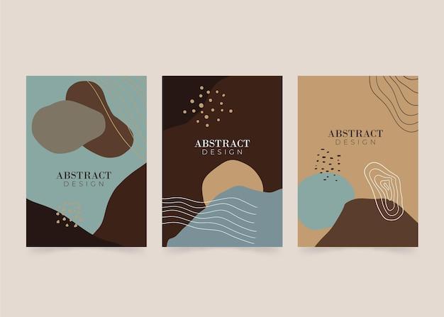 추상적 인 모양 커버 컬렉션