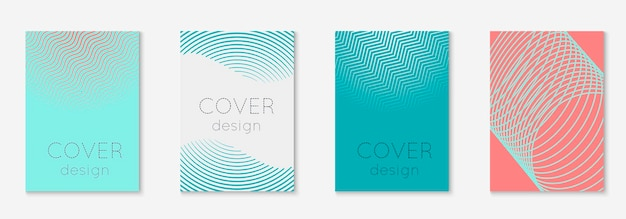 Abstract shapes cover. material page, presentation, placard, patent concept. pink and turquoise. abstract shapes cover and template with line geometric elements.