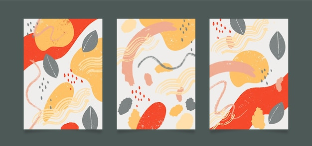 Abstract shapes covers design