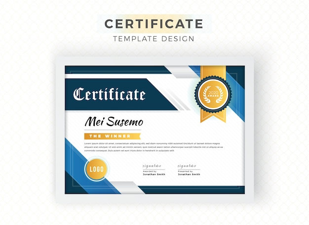 Abstract shapes decorative certificate