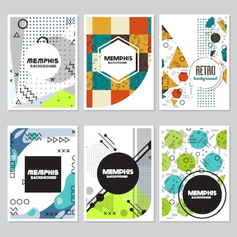 Abstract shapes flyer background design