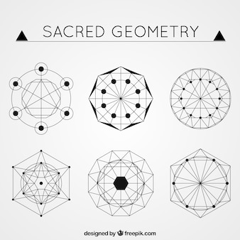 Abstract shapes in geometric style