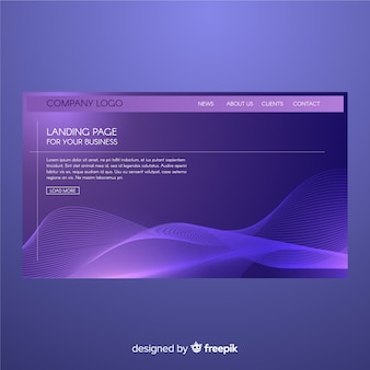 Abstract shapes landing page