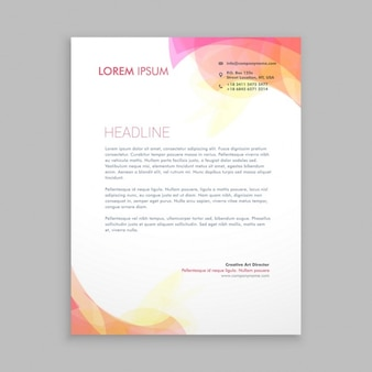 Abstract shapes letterhead template