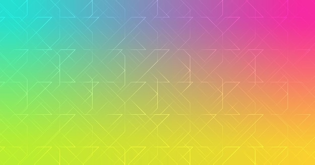 Abstract shapes line pink turquoise green yellow gradient wallpaper background vector illustration