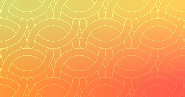 추상 모양 라인 노란색 오렌지 그라데이션 바탕 화면 배경 벡터 일러스트 레이 션