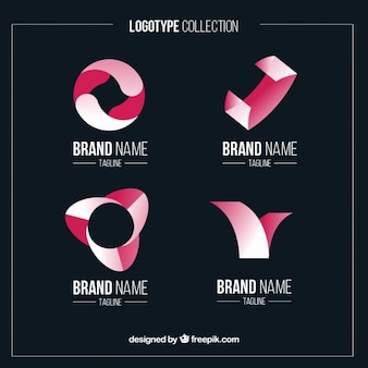 Abstract shapes logos in flat design