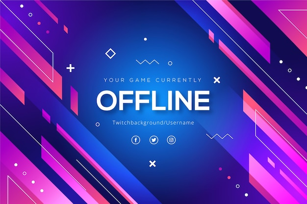 Abstract shapes offline twitch banner