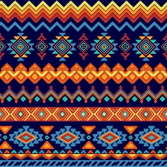 Abstract shapes pattern in ethnic style