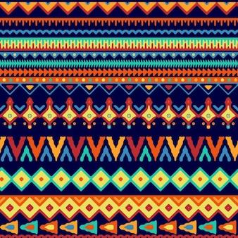 민족 스타일의 추상 모양 패턴