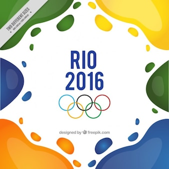Abstract shapes rio 2016 background