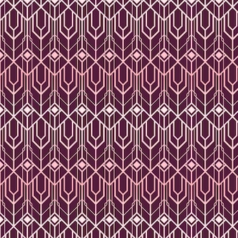 Abstract shapes rose gold art deco pattern