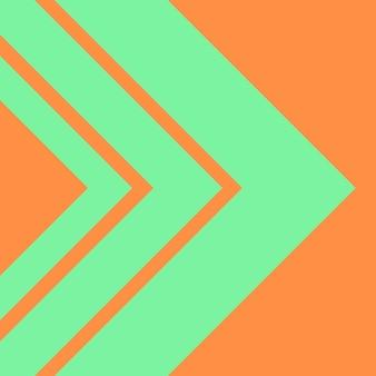 抽象、形、シーフォームグリーン、オレンジ色の壁紙の背景ベクトル図
