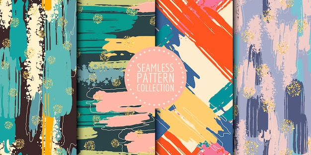 Abstract shapes seamless pattern collection