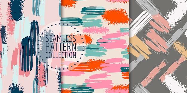 抽象的な形のシームレスなパターンコレクション