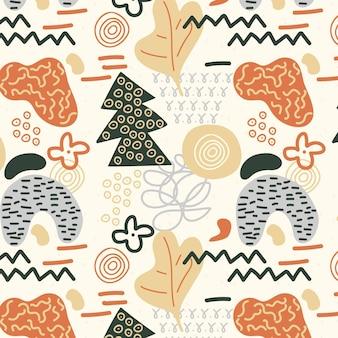 抽象的な形のシームレスなパターン