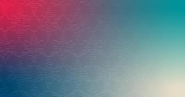 추상 모양 스타 라인 빨간색 청록색 파란색 그라데이션 바탕 화면 배경 벡터 일러스트 레이 션