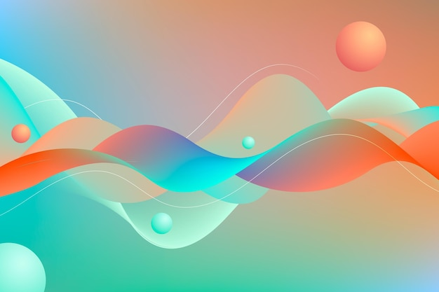 Abstract shapes wavy background