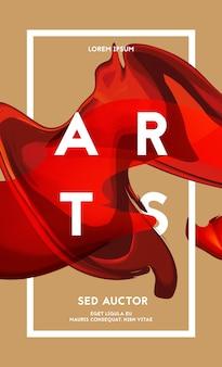 流行に敏感な色のイラストと抽象的な形