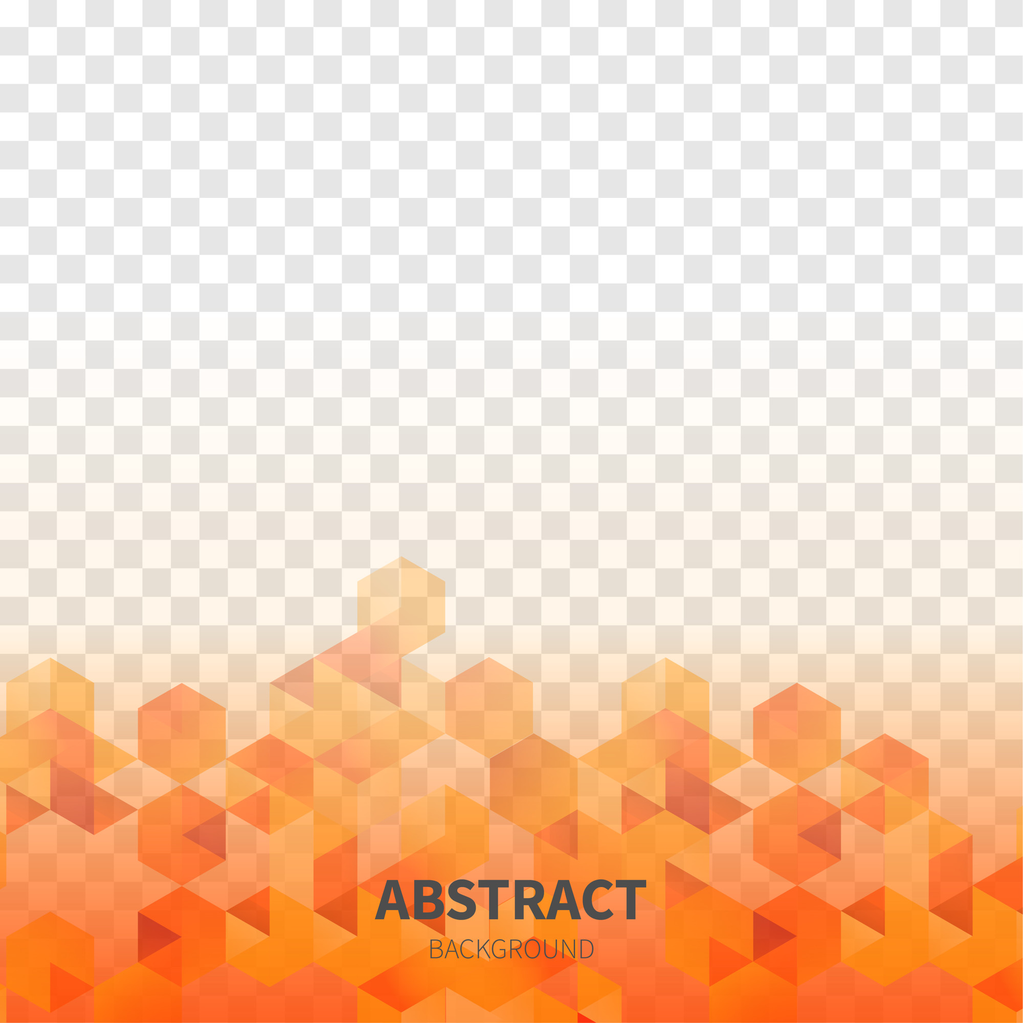 Abstract Shapes with Transparent Background