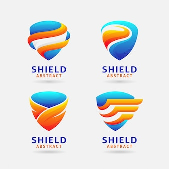 Абстрактный дизайн логотипа щит