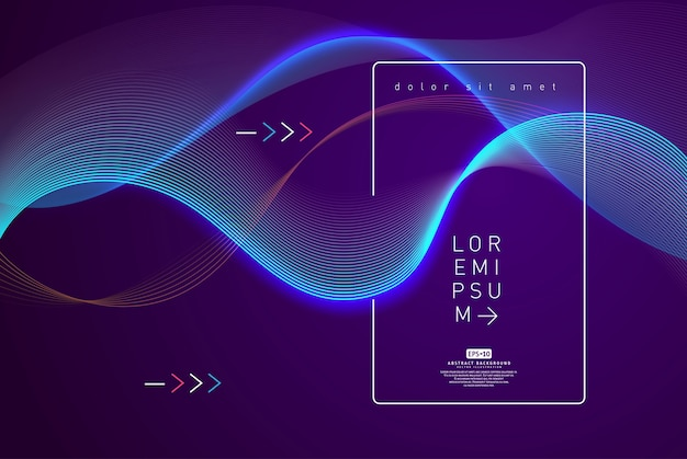 Abstract shining wave background poster template