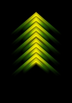 抽象的な光沢のある矢印のデザイン。ベクトルの背景