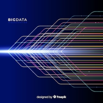 Abstract shiny big data background