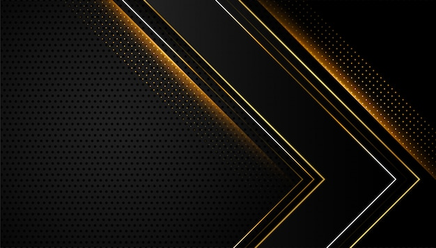 Abstract shiny black and golden design
