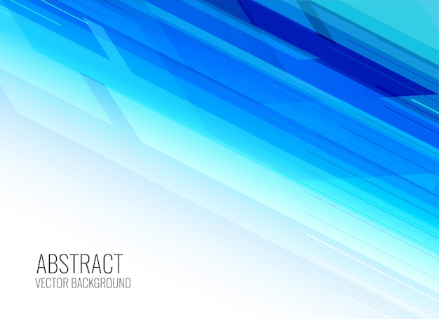 Abstract shiny blue presentation background