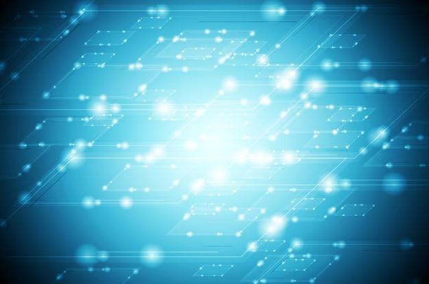 Абстрактный блестящий синий технический фон. векторный дизайн