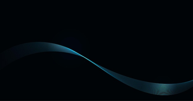 Abstract shiny blue waves background.
