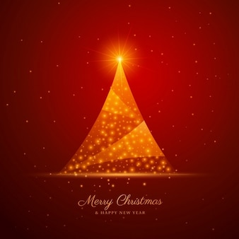 Abstract shiny christmas tree background