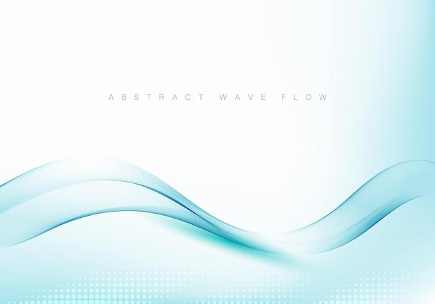 Абстрактный блестящий цвет синий элемент дизайна волны на белом фоне медицина