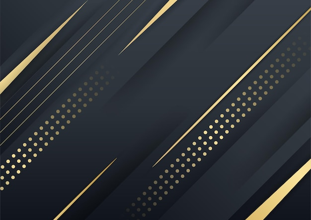 抽象的な光沢のある色の金の波のデザイン要素