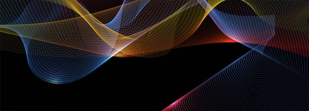 Abstract shiny colorful business wave banner background